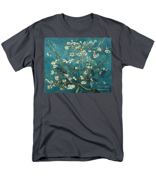Men's T-Shirt  (Regular Fit) featuring the painting Almond Blossoms' Reproduction by Tim Gilliland