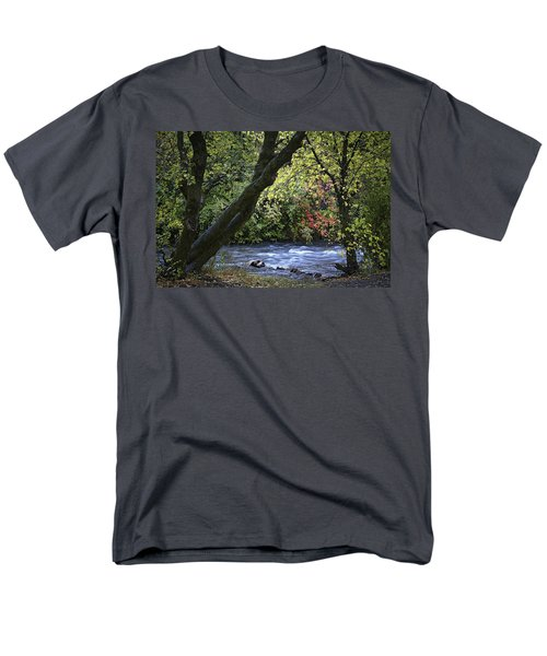 Men's T-Shirt  (Regular Fit) featuring the photograph Along Swift Waters by Priscilla Burgers