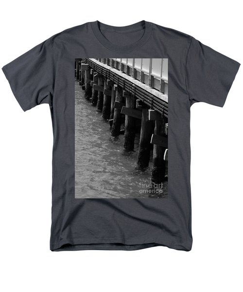 Along The Pier Men's T-Shirt  (Regular Fit) by Barbara Bardzik