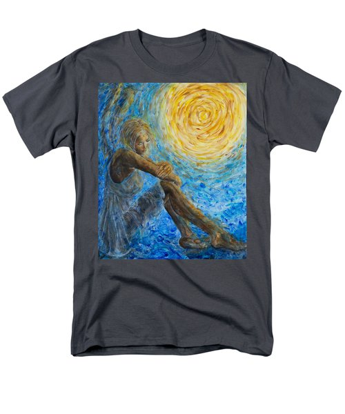 Angel Moon II Men's T-Shirt  (Regular Fit) by Nik Helbig