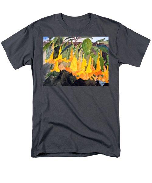 Angel Trumpets Men's T-Shirt  (Regular Fit) by Sandy McIntire