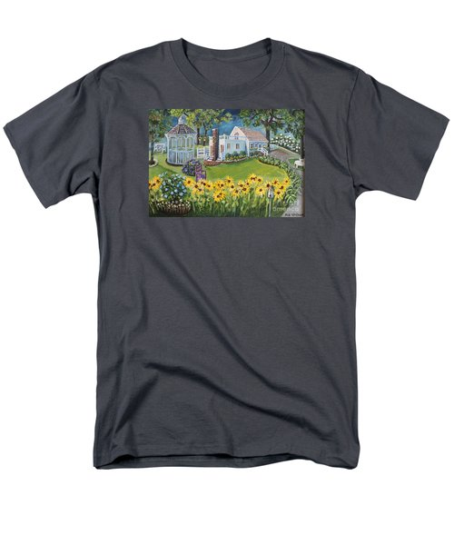 Men's T-Shirt  (Regular Fit) featuring the painting Annie's Summer Cottage by Rita Brown