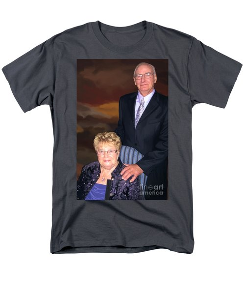 Men's T-Shirt  (Regular Fit) featuring the painting Anniversary Portrait by Tim Gilliland