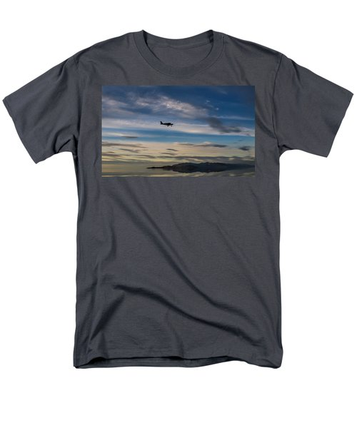 Men's T-Shirt  (Regular Fit) featuring the photograph Antelope Island - Lone Airplane by Ely Arsha