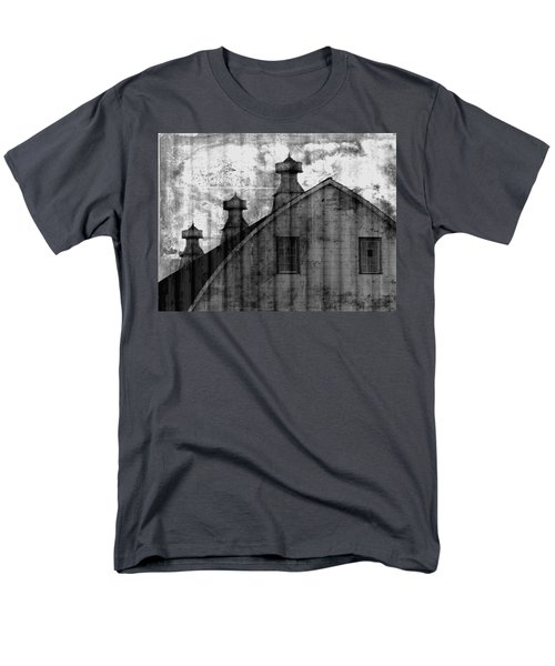 Antique Barn - Black And White Men's T-Shirt  (Regular Fit) by Joseph Skompski