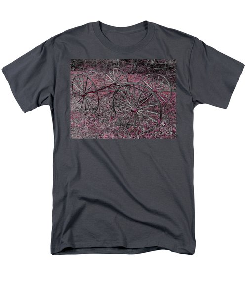 Men's T-Shirt  (Regular Fit) featuring the photograph Antique Wagon Wheels by Sherman Perry