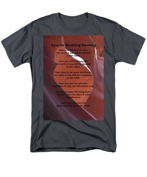 Apache Wedding Blessing On Canyon Photo Men's T-Shirt  (Regular Fit) by Marcia Socolik