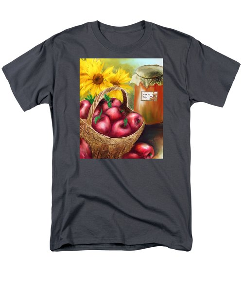 Men's T-Shirt  (Regular Fit) featuring the digital art Apple Harvest by Mary Almond