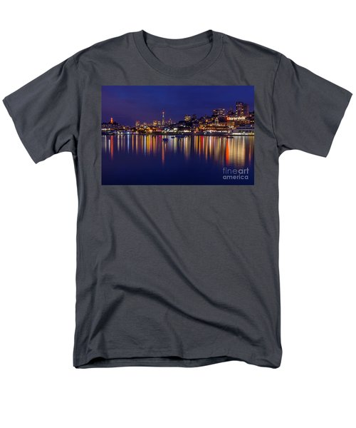 Aquatic Park Blue Hour Wide View Men's T-Shirt  (Regular Fit) by Kate Brown