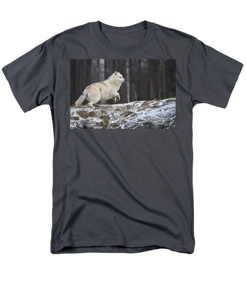 Men's T-Shirt  (Regular Fit) featuring the photograph Arctic Wolf by Wolves Only