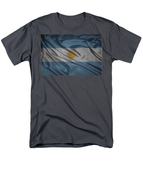 Argentinian Flag Waving On Canvas Men's T-Shirt  (Regular Fit) by Eti Reid