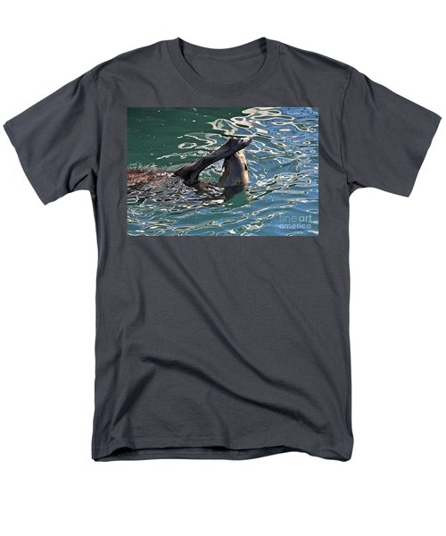 Artsy Sea Lion Men's T-Shirt  (Regular Fit) by Susan Wiedmann