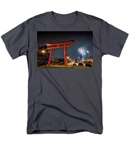Men's T-Shirt  (Regular Fit) featuring the photograph Asian Fireworks by John Swartz