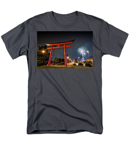 Asian Fireworks Men's T-Shirt  (Regular Fit) by John Swartz