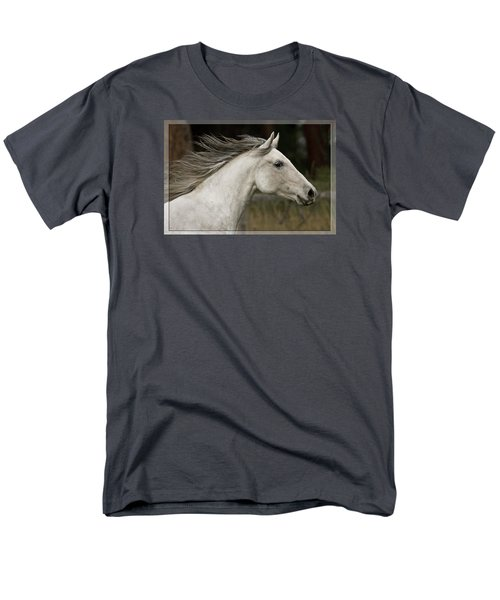 Men's T-Shirt  (Regular Fit) featuring the photograph At A Full Gallop D7796 by Wes and Dotty Weber