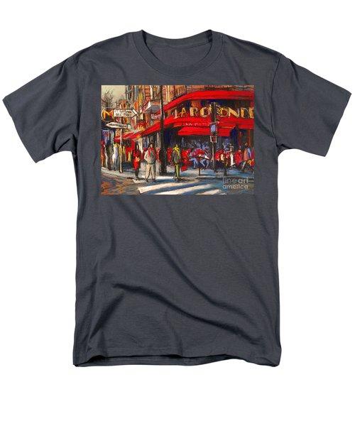 At The Cafe De La Rotonde Paris Men's T-Shirt  (Regular Fit)