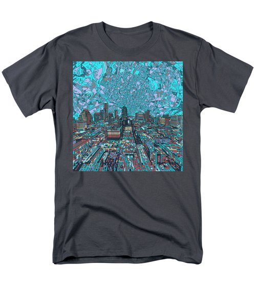 Austin Texas Vintage Panorama 4 Men's T-Shirt  (Regular Fit) by Bekim Art
