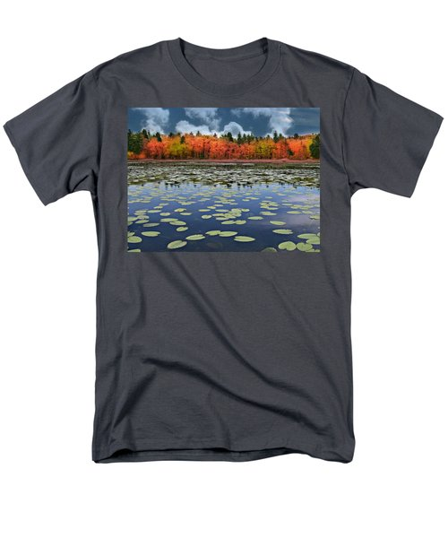 Autumn Across The Pond Men's T-Shirt  (Regular Fit) by Barbara S Nickerson
