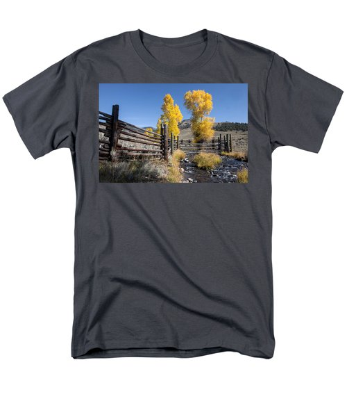 Men's T-Shirt  (Regular Fit) featuring the photograph Autumn At The Lamar Buffalo Ranch by Jack Bell