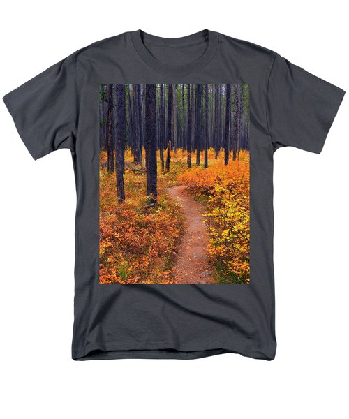 Men's T-Shirt  (Regular Fit) featuring the photograph Autumn In Yellowstone by Raymond Salani III