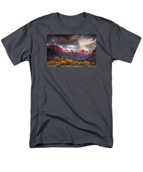 Men's T-Shirt  (Regular Fit) featuring the photograph Autumn Morning In Zion by Andrew Soundarajan