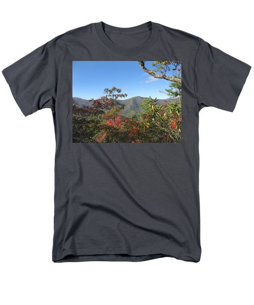 Autumn Smoky Mountains Men's T-Shirt  (Regular Fit) by Melinda Fawver