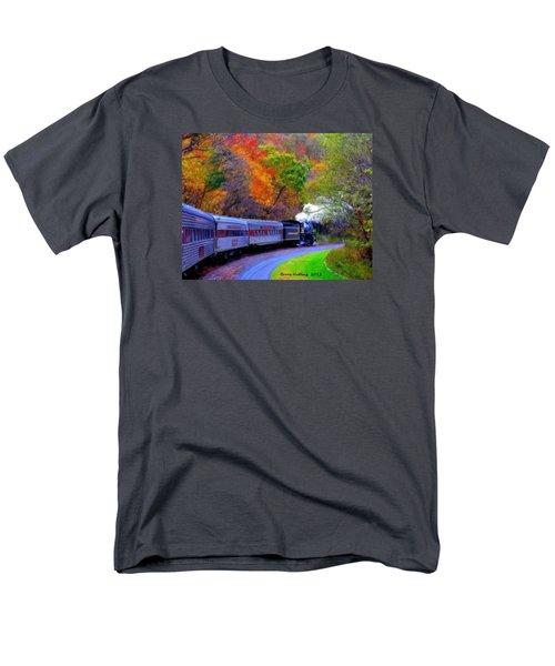 Men's T-Shirt  (Regular Fit) featuring the painting Autumn Train by Bruce Nutting