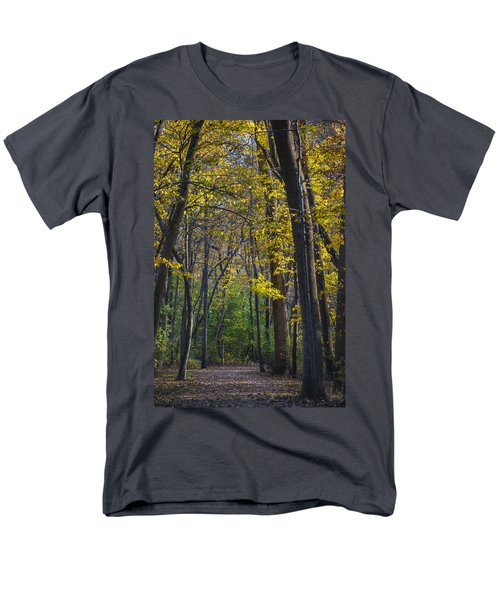 Men's T-Shirt  (Regular Fit) featuring the photograph Autumn Trees Alley by Sebastian Musial