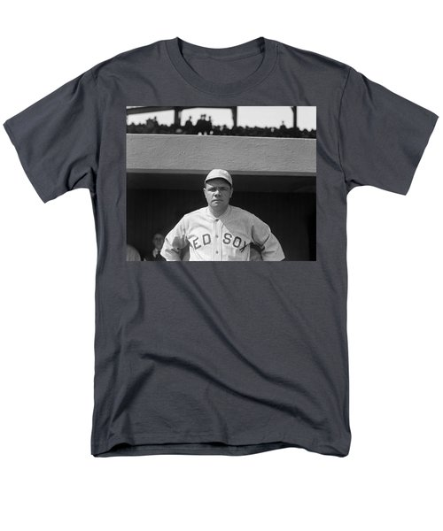 Babe Ruth In Red Sox Uniform Men's T-Shirt  (Regular Fit) by Underwood Archives