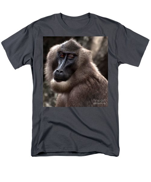 Baboon Men's T-Shirt  (Regular Fit) by Loriannah Hespe