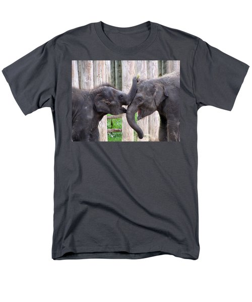 Baby Elephants - Bowie And Belle Men's T-Shirt  (Regular Fit)