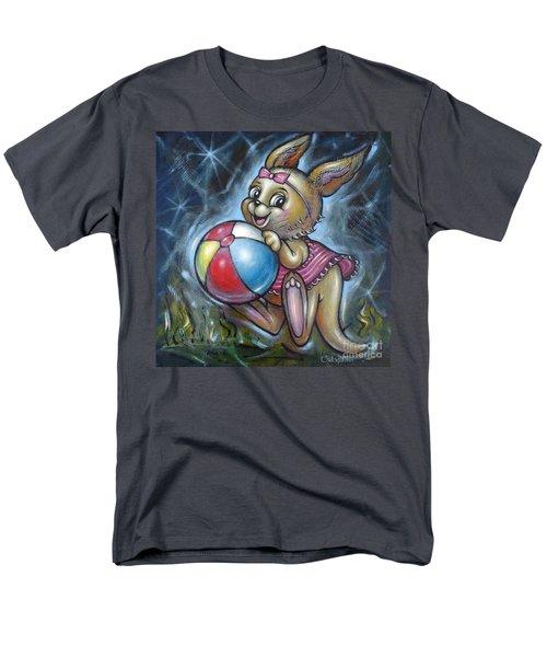 Men's T-Shirt  (Regular Fit) featuring the painting Baby Kangaroo 150911 by Selena Boron