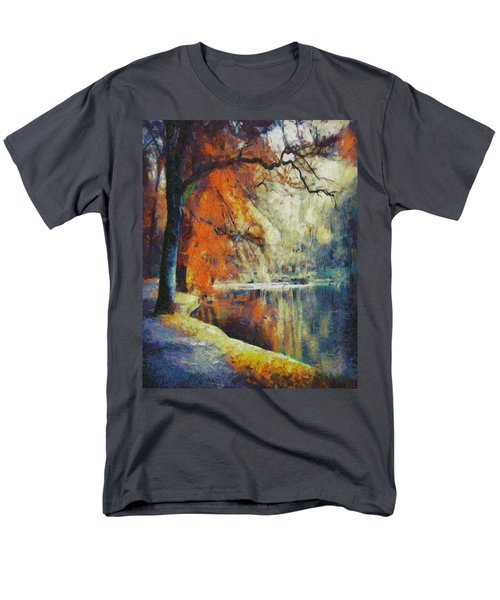 Men's T-Shirt  (Regular Fit) featuring the painting Back To Our Dreams by Joe Misrasi