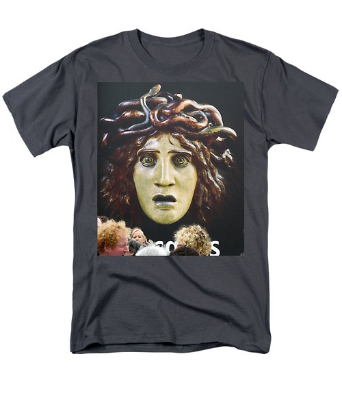 Men's T-Shirt  (Regular Fit) featuring the photograph bad hair day at d'Orsay museum, Paris.  by Joe Schofield