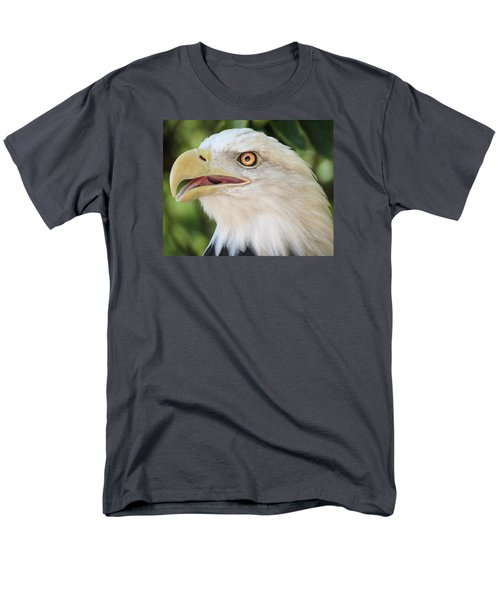 Men's T-Shirt  (Regular Fit) featuring the photograph American Bald Eagle Portrait - Bright Eye by Patti Deters