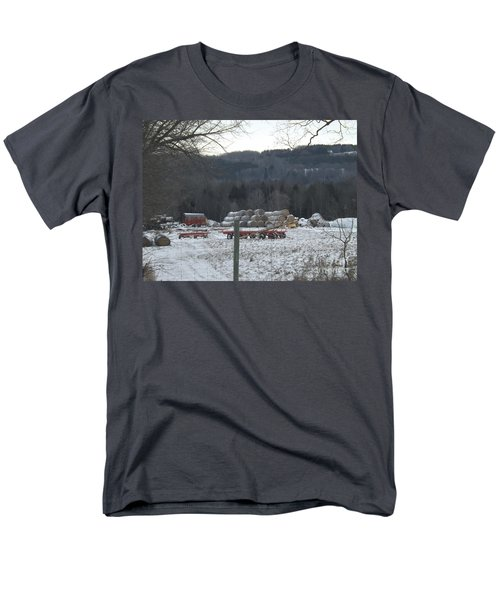 Men's T-Shirt  (Regular Fit) featuring the photograph Bales Of Hay by Brenda Brown