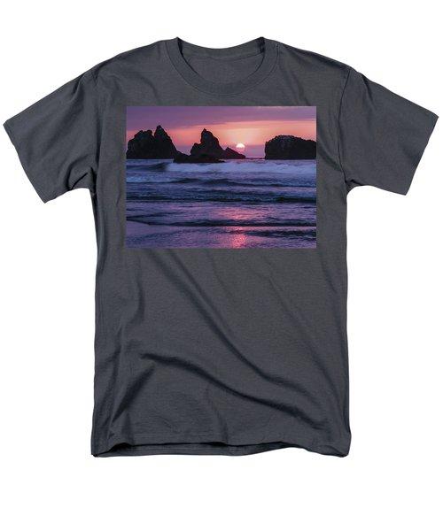 Bandon Beach Sunset Men's T-Shirt  (Regular Fit) by Jean Noren