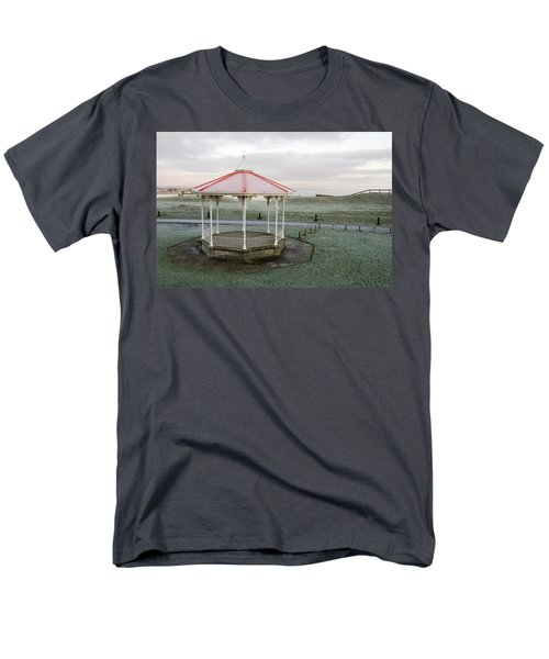 Men's T-Shirt  (Regular Fit) featuring the photograph Bandstand In Winter by Jeremy Voisey