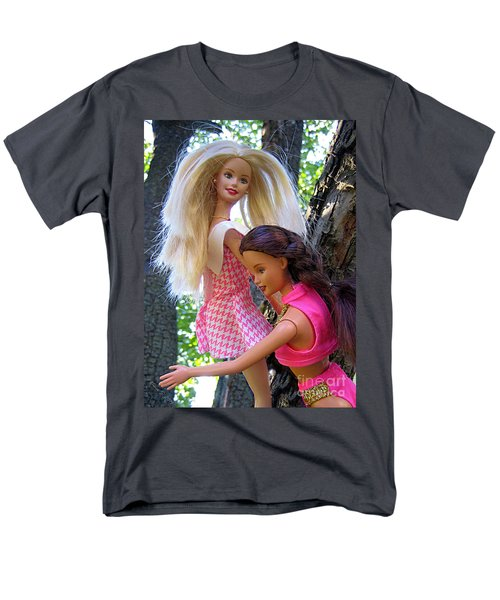 Men's T-Shirt  (Regular Fit) featuring the photograph Barbie's Climbing Trees by Nina Silver