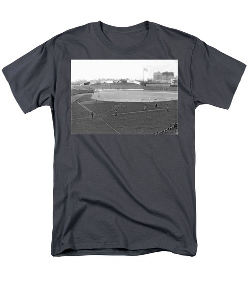 Baseball At Yankee Stadium Men's T-Shirt  (Regular Fit) by Underwood Archives