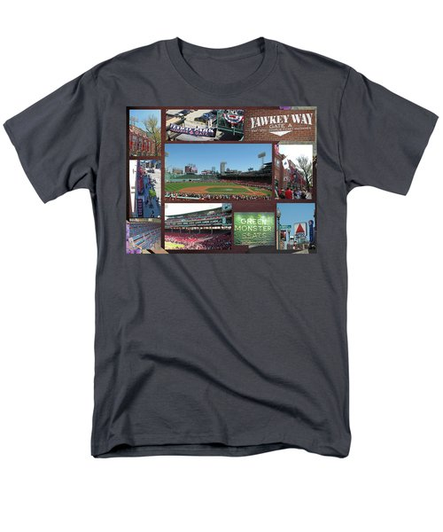 Men's T-Shirt  (Regular Fit) featuring the photograph Baseball Collage by Barbara McDevitt