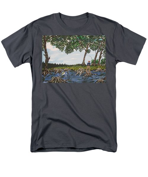 Bass Fishing In The Stumps Men's T-Shirt  (Regular Fit) by Jeffrey Koss