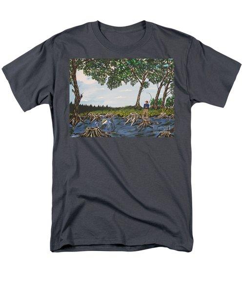 Bass Fishing In The Stumps Men's T-Shirt  (Regular Fit)