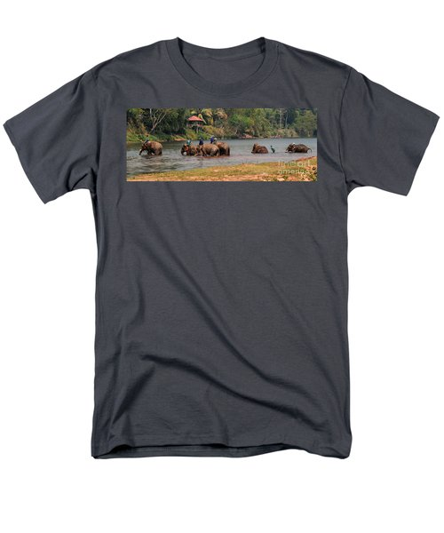 Men's T-Shirt  (Regular Fit) featuring the photograph Bath Time by Vivian Christopher