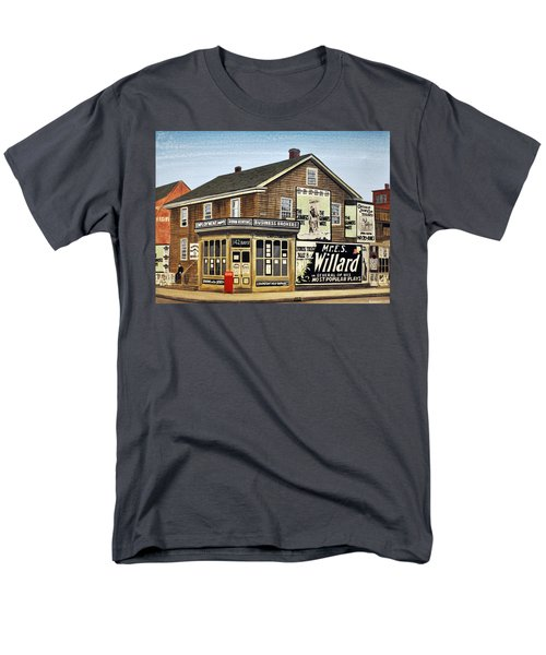 Men's T-Shirt  (Regular Fit) featuring the painting Bay And Adelaide Streets 1910 by Kenneth M  Kirsch