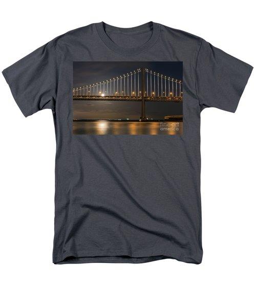 Bay Bridge Moon Rising Men's T-Shirt  (Regular Fit) by Kate Brown