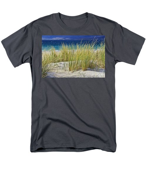 Men's T-Shirt  (Regular Fit) featuring the photograph Beach Gras by Juergen Klust