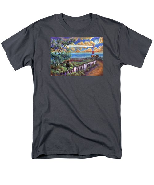 Beacons In The Moonlight Men's T-Shirt  (Regular Fit) by Retta Stephenson