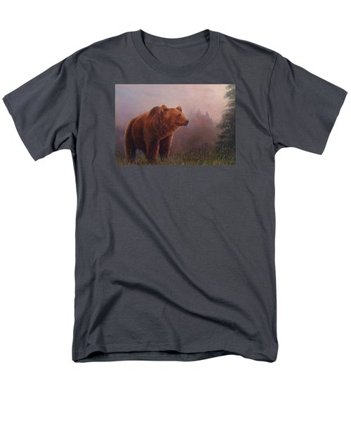 Men's T-Shirt  (Regular Fit) featuring the painting Bear In The Mist by Donna Tucker