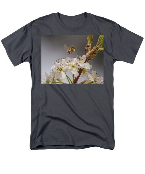 Bee Working The Bradford Pear 2 Men's T-Shirt  (Regular Fit) by Allen Sheffield